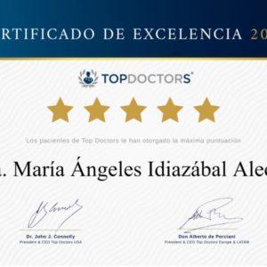La Dra. Mª Ángeles Idiazábal repite máxima puntuación de excelencia Top Doctors en 2020